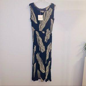 Zaful Palm Leaf Print Dress